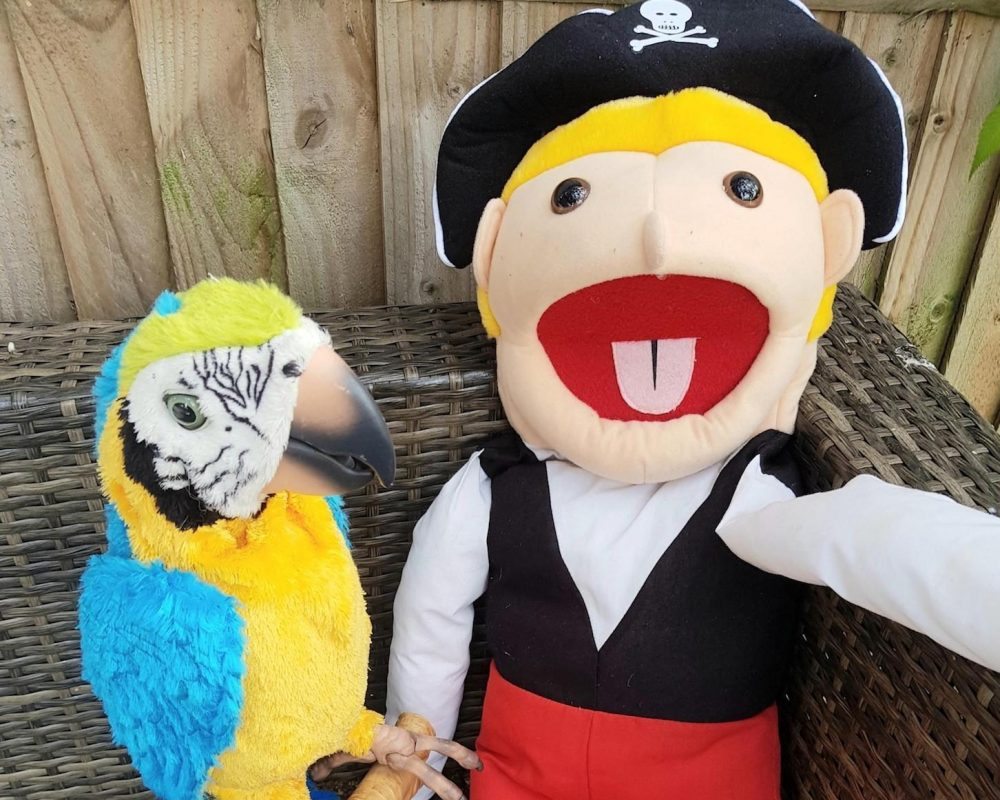 PIrate Puppet And Parrot