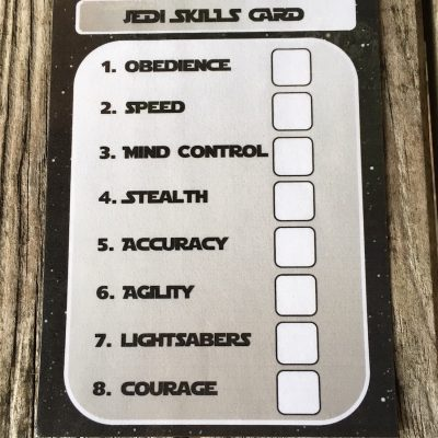 Star Wars Skills Card