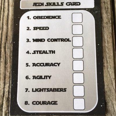 Star Wars Skills Card