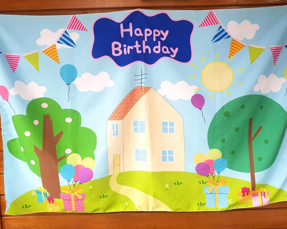Peppa Pig Party Backdrop